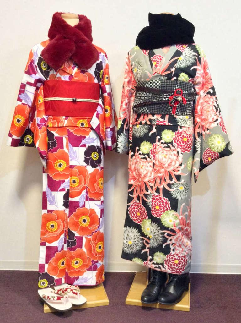 鬼の着物コーデで京都の節分祭へ♪