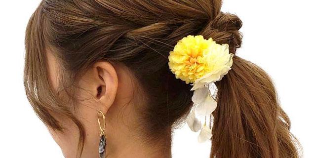 京都着物レンタル京越 ヘアセット 髪飾り