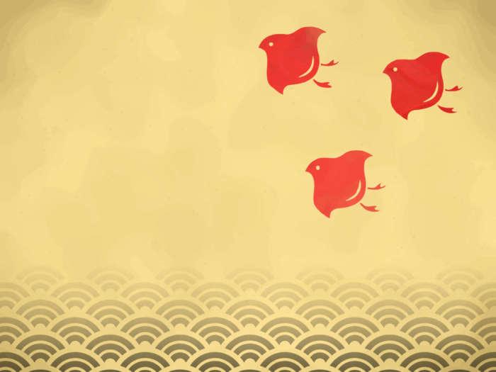 青海波と千鳥