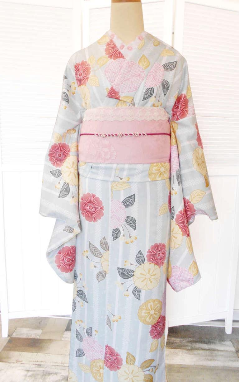 嵐山店より春らしい着物コーデのご紹介です♪