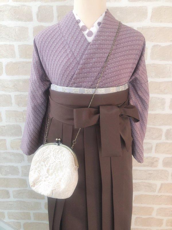 アンティーク着物でレトロな袴コーデ
