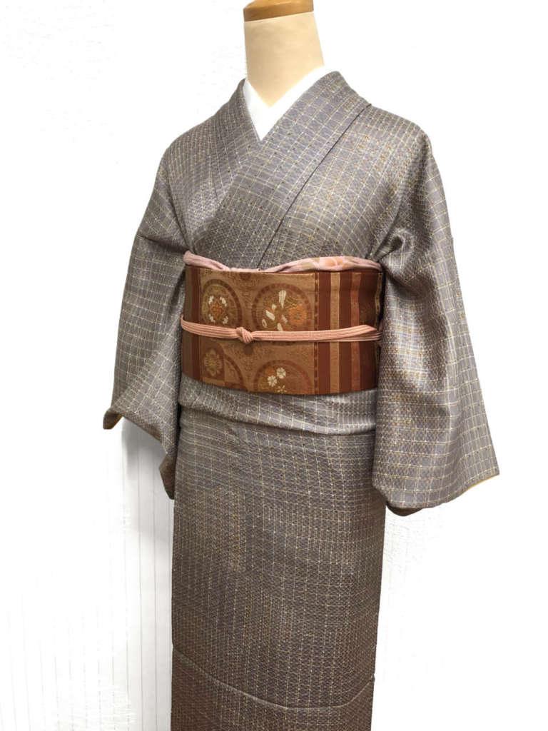 アンティーク着物と、新しく入ってきた名古屋帯で着回しコーディネート