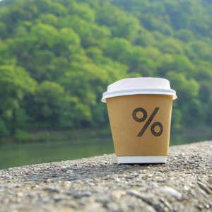 アラビカコーヒー嵐山のコーヒーカップ