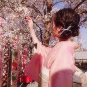 嵐山店ピンク色アンティーク着物