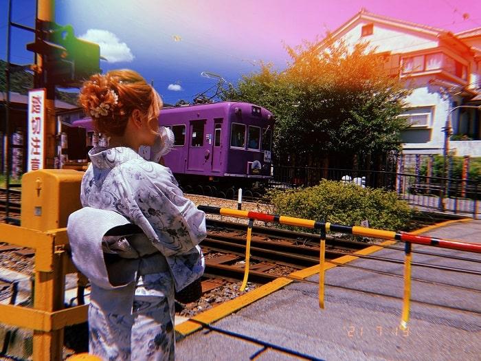嵐電嵐山駅踏切