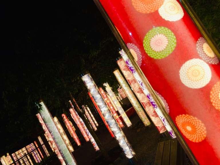 嵐山着物フォレスト夜のライトアップ