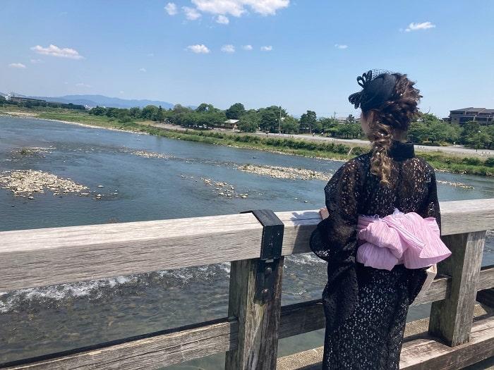 渡月橋桂川