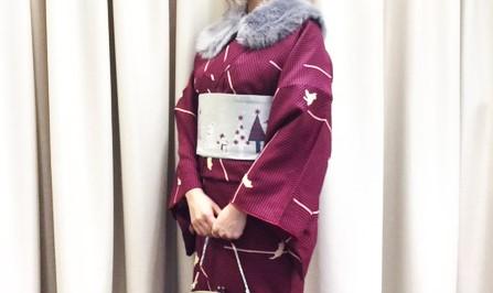 クリスマスは着物で浅草へ!12月限定のクリスマス帯が可愛い♪