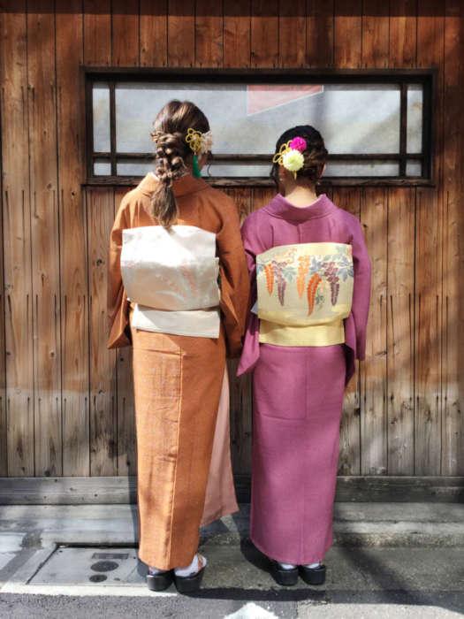 名古屋帯とアンティーク着物