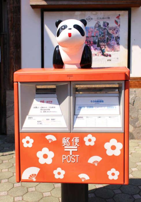 浅草花やしきのパンダカー郵便ポスト