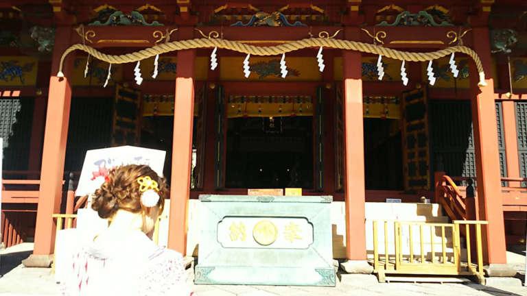着物姿で浅草神社にお参りしましょう♪