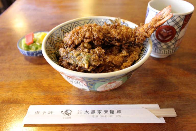 ぷりぷりのエビがおいしい!天ぷらの老舗「大黒家」でいただく絶品天丼