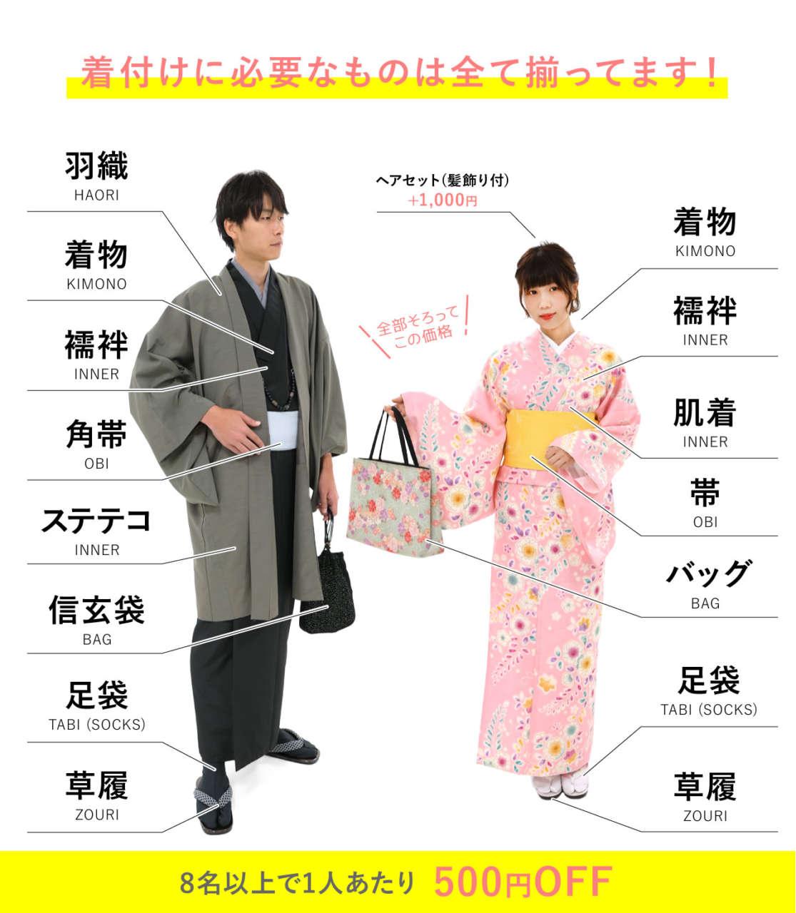 京都浅草着物レンタル 団体割引