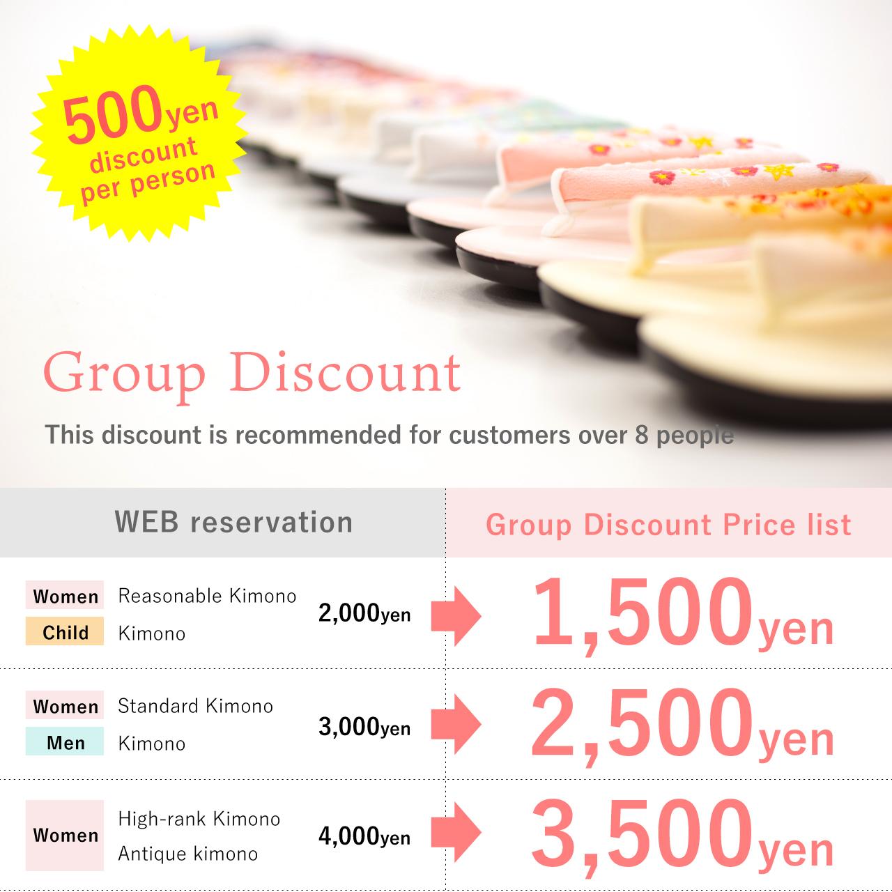 Group Discount Kimono rental