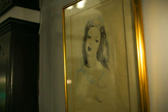 フランソワ喫茶室の絵画