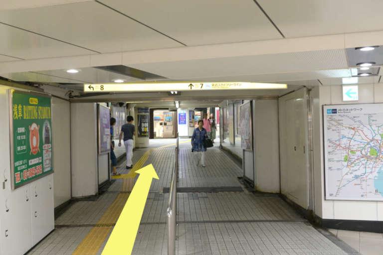 東京メトロ銀座線浅草駅7番出口通路