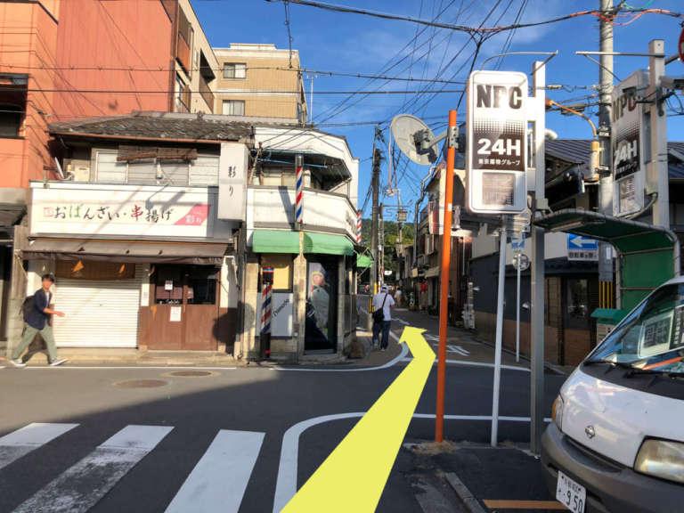 祇園四条駅周辺の交差点