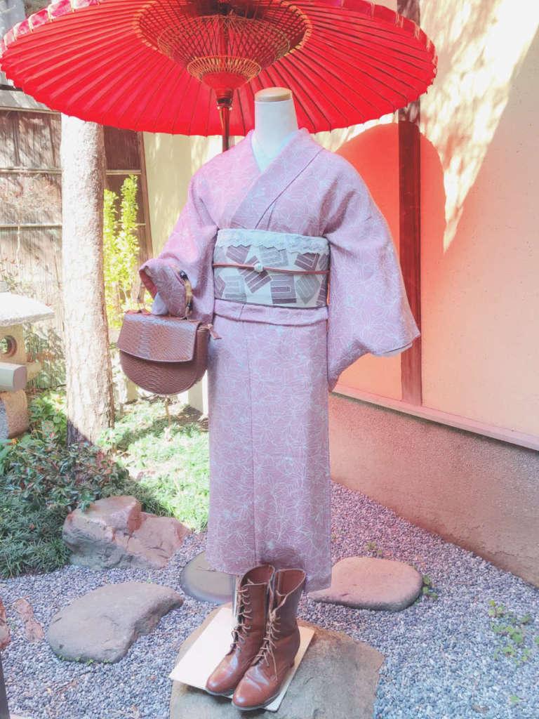 祇園本店おすすめのアンティーク着物コーデ