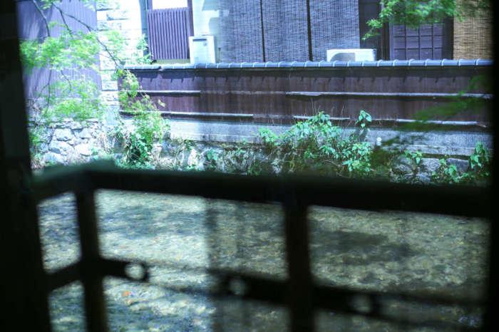 祇園白川の川面