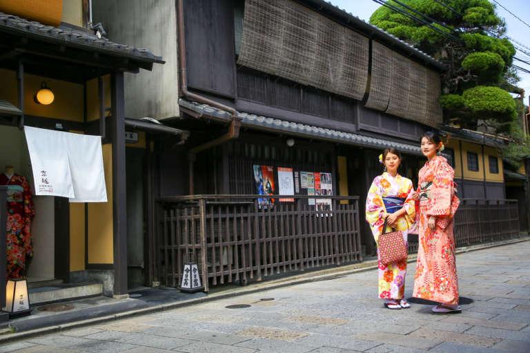 """Route, access to """"Kyoetsu Kimono Rental Gionshinbashi shop"""""""