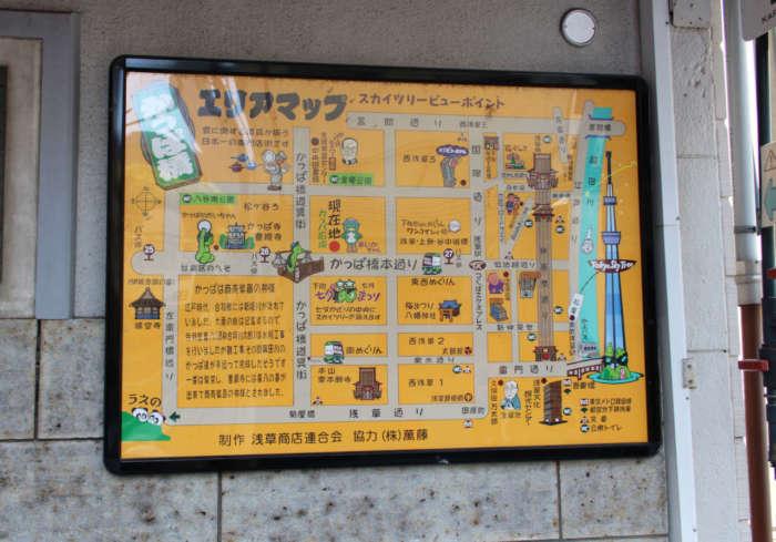 かっぱ橋道具街地図のポスター