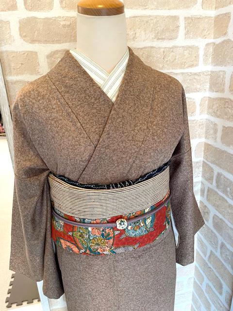 アンティーク着物と名古屋帯コーディネート