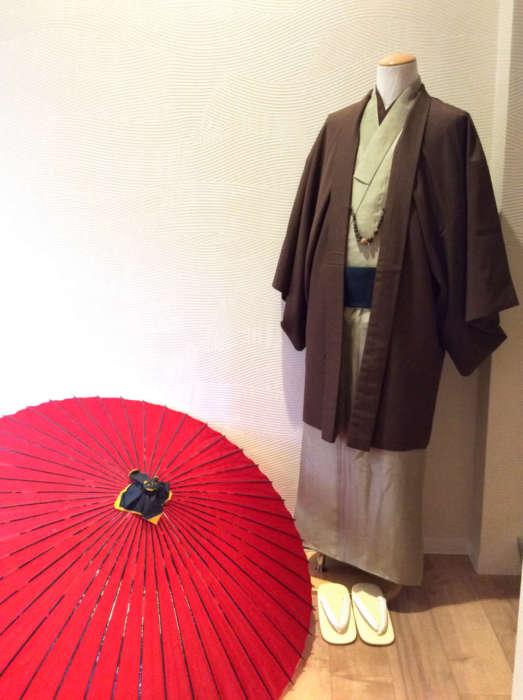 祇園新橋店男性着物コーディネート