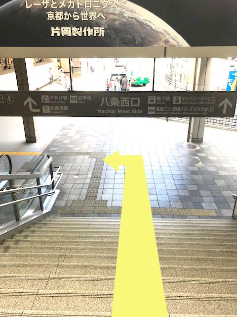 京都駅八条西口階段