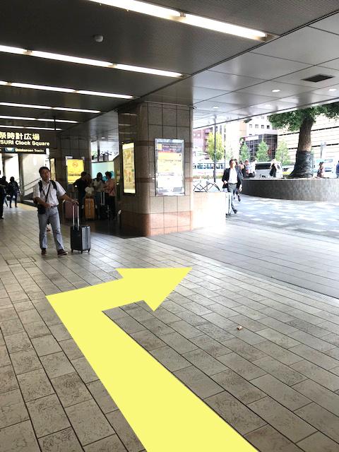 京都駅祭時計広場案内看板
