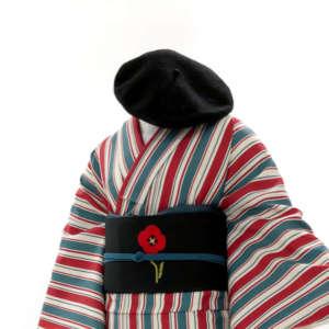 清水店着物コーディネートベレー帽