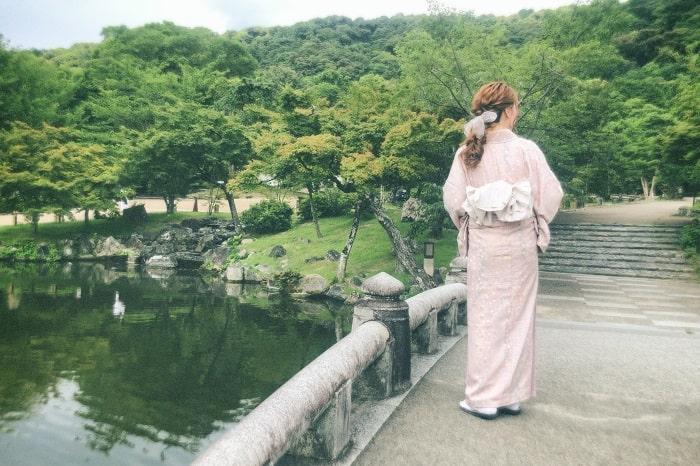 円山公園と着物姿