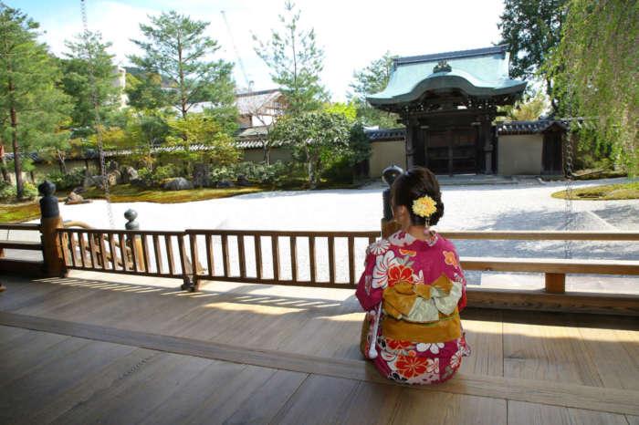 高台寺の縁側