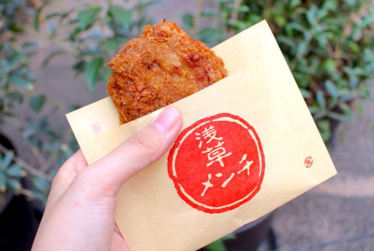 肉汁あふれるジューシーメンチカツ「浅草メンチ」を浅草観光のお供に♪