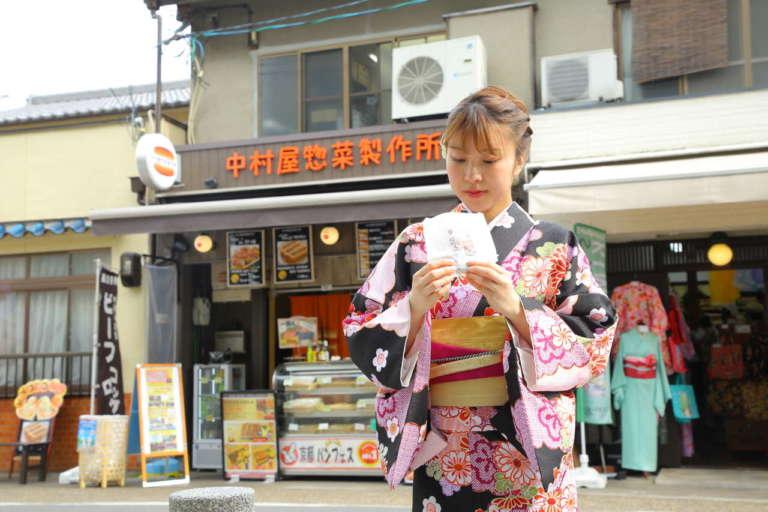 京都・嵐山の食べ歩きグルメといえばここ! 中村屋コロッケ