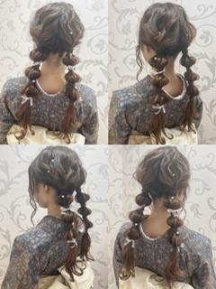 アンティーク着物×レトロガールヘア♡