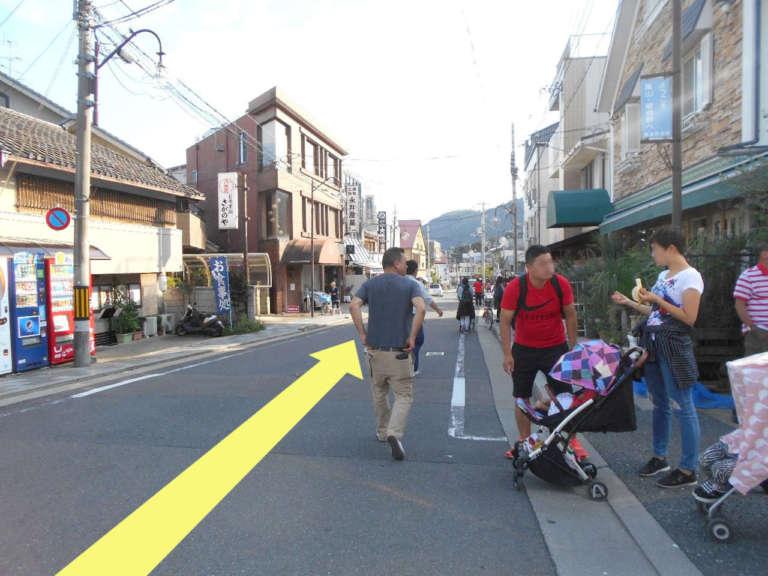 嵐山の道路