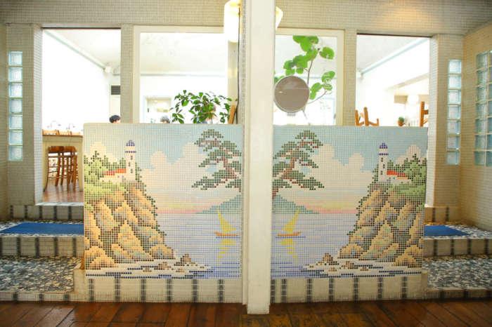 嵯峨野湯のタイル絵