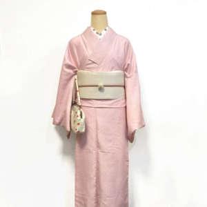 桜色着物コーデ
