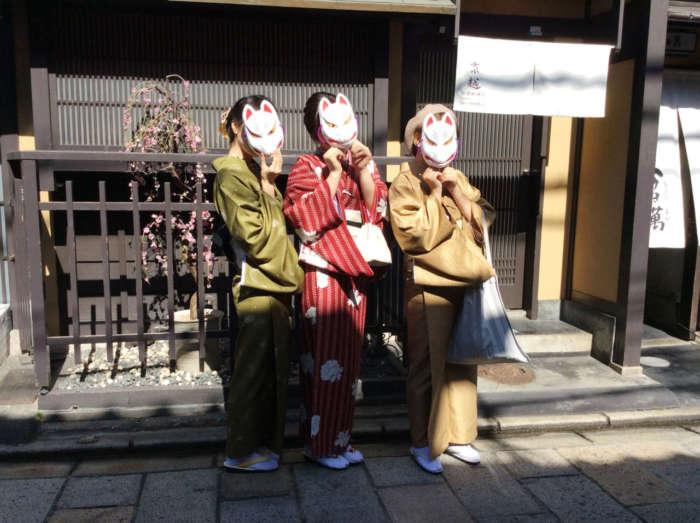 祇園新橋店お客様の着物写真