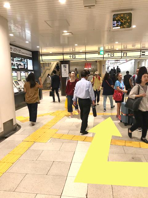 地下鉄京都駅南改札口