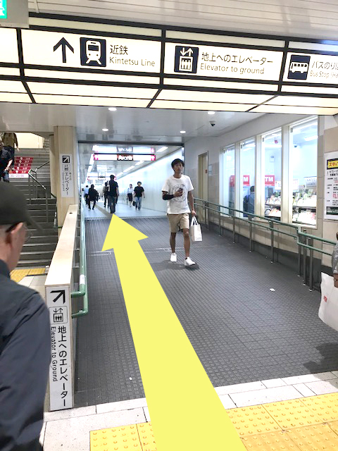 京都駅セブンイレブン脇の通路