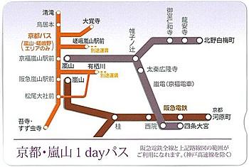 京都・嵐山1dayパス