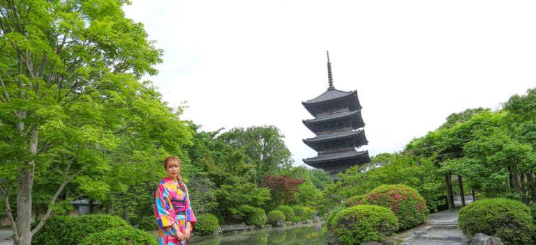 京都のシンボル・五重塔が立つ 東寺