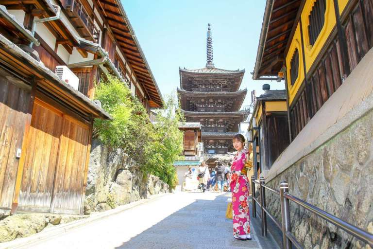 着物姿で一緒に写りたい!古都のシンボル 八坂の塔(京都市東山区)